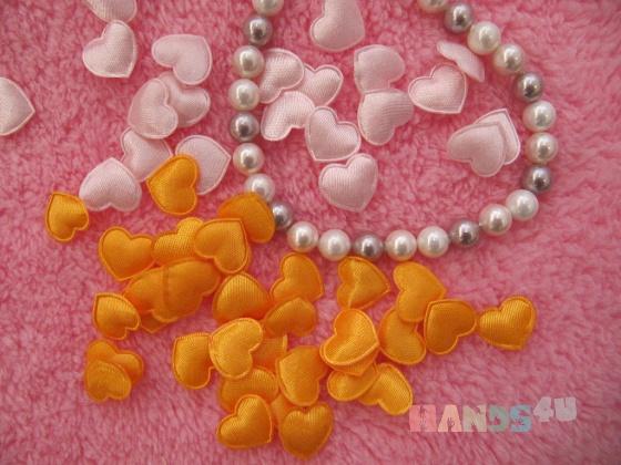 Купить Сатиновые сердечки - мини 15мм, Аппликации, вставки, отделка ручной работы. Мастер Анастасия Назарова (Happy-Peppi) .