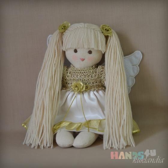 Купить Ангелочек, Ангелы, Сказочные персонажи, Куклы и игрушки ручной работы. Мастер Виктория К (kuklandia) . кукла