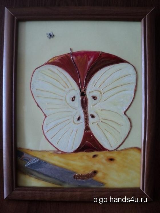 Купить Бабочка, Картины и панно ручной работы. Мастер   (BigB) . витражная картина