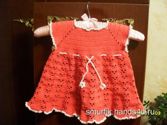 Вязанные платья для девочек до 2 лет видео