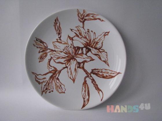 Купить Тарелка керамическая декоративная  Цветы, Тарелки, Посуда ручной работы. Мастер Ник Масс (Nick) .