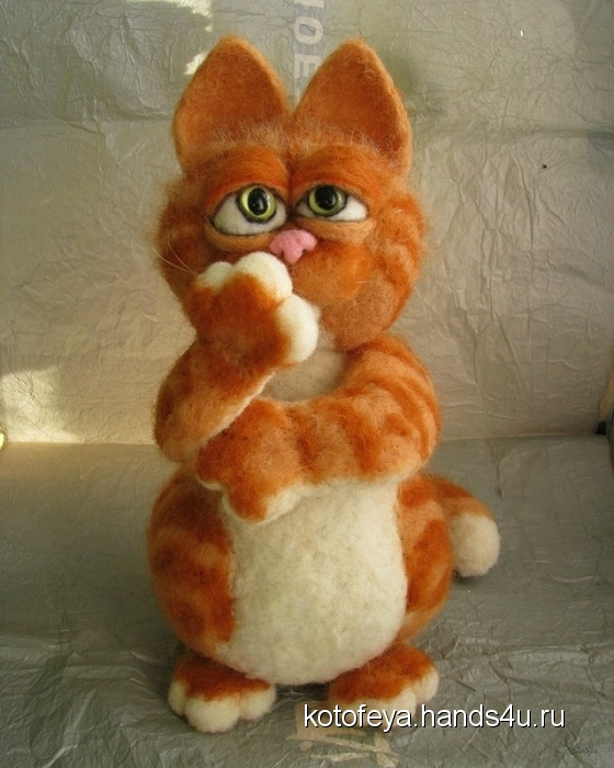 Купить Гарфилд, Коты, Зверята, Куклы и игрушки ручной работы. Мастер   (KotoFeya) . авторская игрушка
