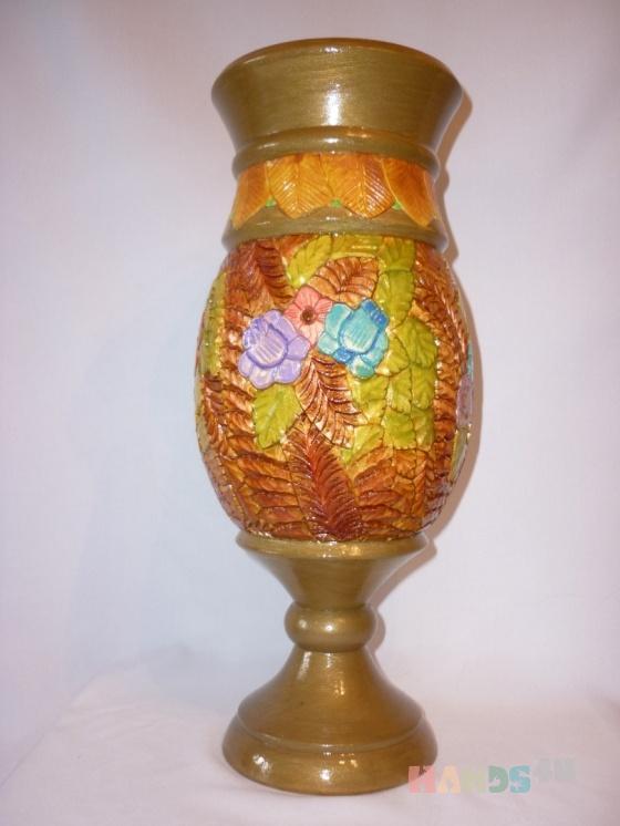 Купить ваза, Для дома и интерьера ручной работы. Мастер елена михайлова (pioner) . дерево - липа