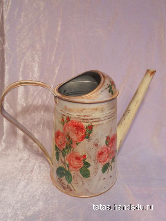 Купить Лейка Розовый куст, Лейки, Цветы и флористика ручной работы. Мастер Татьяна Акунеева (tataa) .