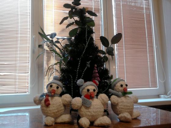 Купить Снеговики, Куклы и игрушки ручной работы. Мастер Татьяна Минаева (minaevatanya) . нитки наполнитель