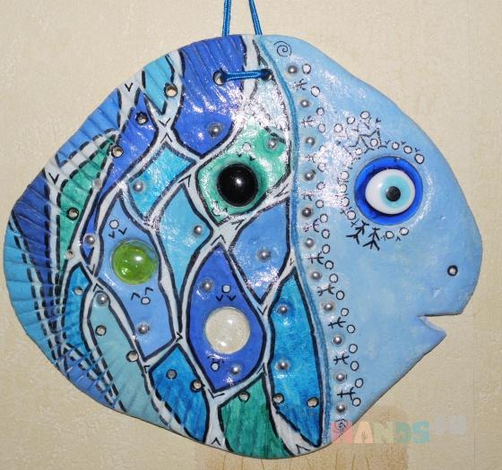 Купить Рыба с глазом от сглаза, Животные, Картины и панно ручной работы. Мастер Ксения Пищулина (Ksupy) .