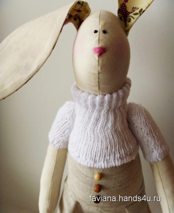 Купить Tilli, Куклы Тильды, Куклы и игрушки ручной работы. Мастер Татьяна Виноградова (Faviana) . заяц тильда