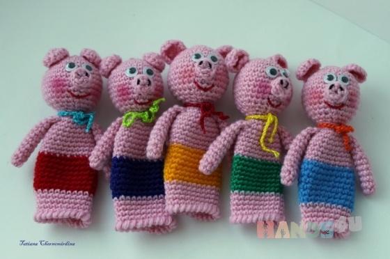 """Пальчиковый театр """"Три поросенка"""", Кукольный театр, Куклы и игрушки ручной работы Вся ручная работа на HandsForYou"""
