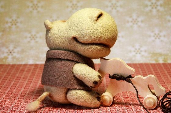 Купить Benjamin, Другие животные, Зверята, Куклы и игрушки ручной работы. Мастер Юлия Карминова (Gottin) . бегемотики