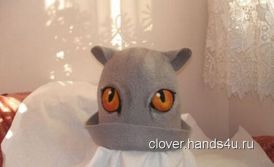"""Шапка для бани """"Кошка"""", Банные принадлежности, Для дома и интерьера ручной работы Вся ручная работа на HandsForYou"""