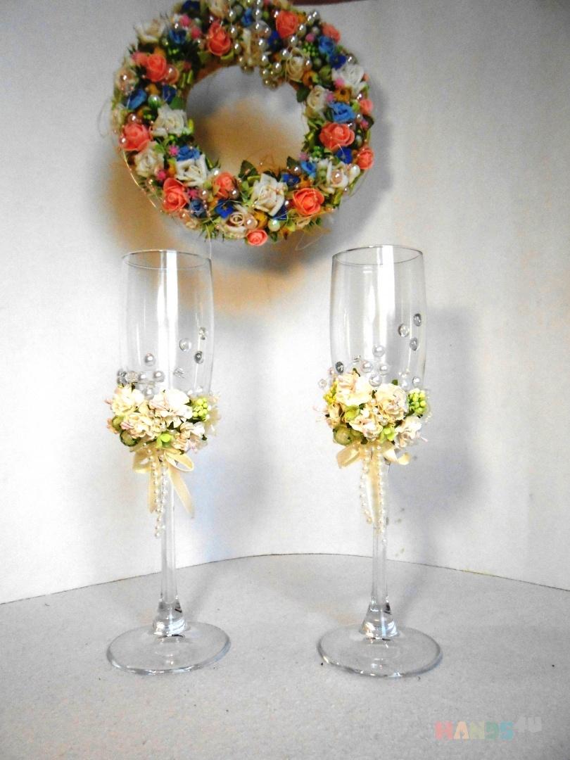 Хрутальные свадебные бокалы