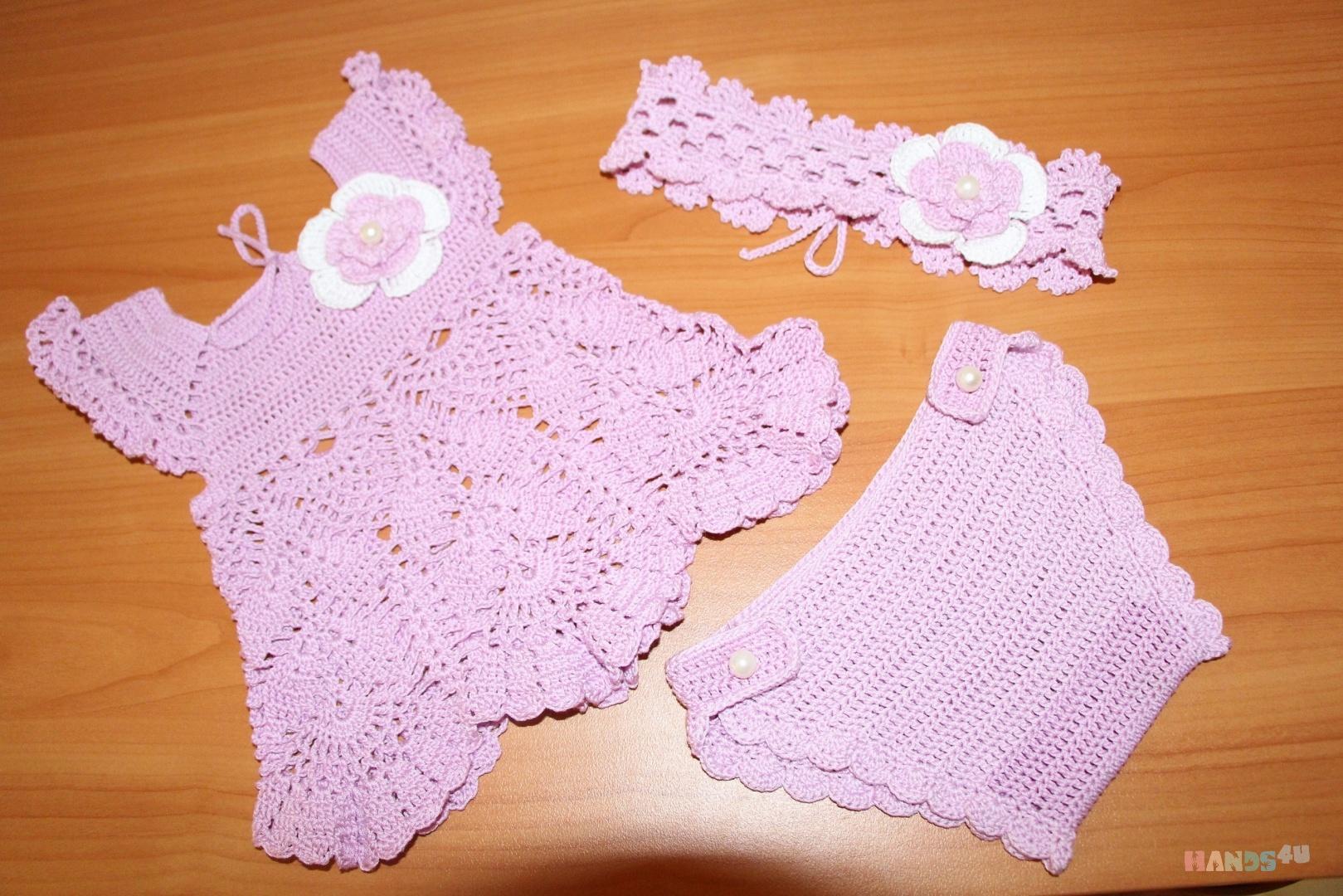 Вязание крючком для новорожденного пошагово