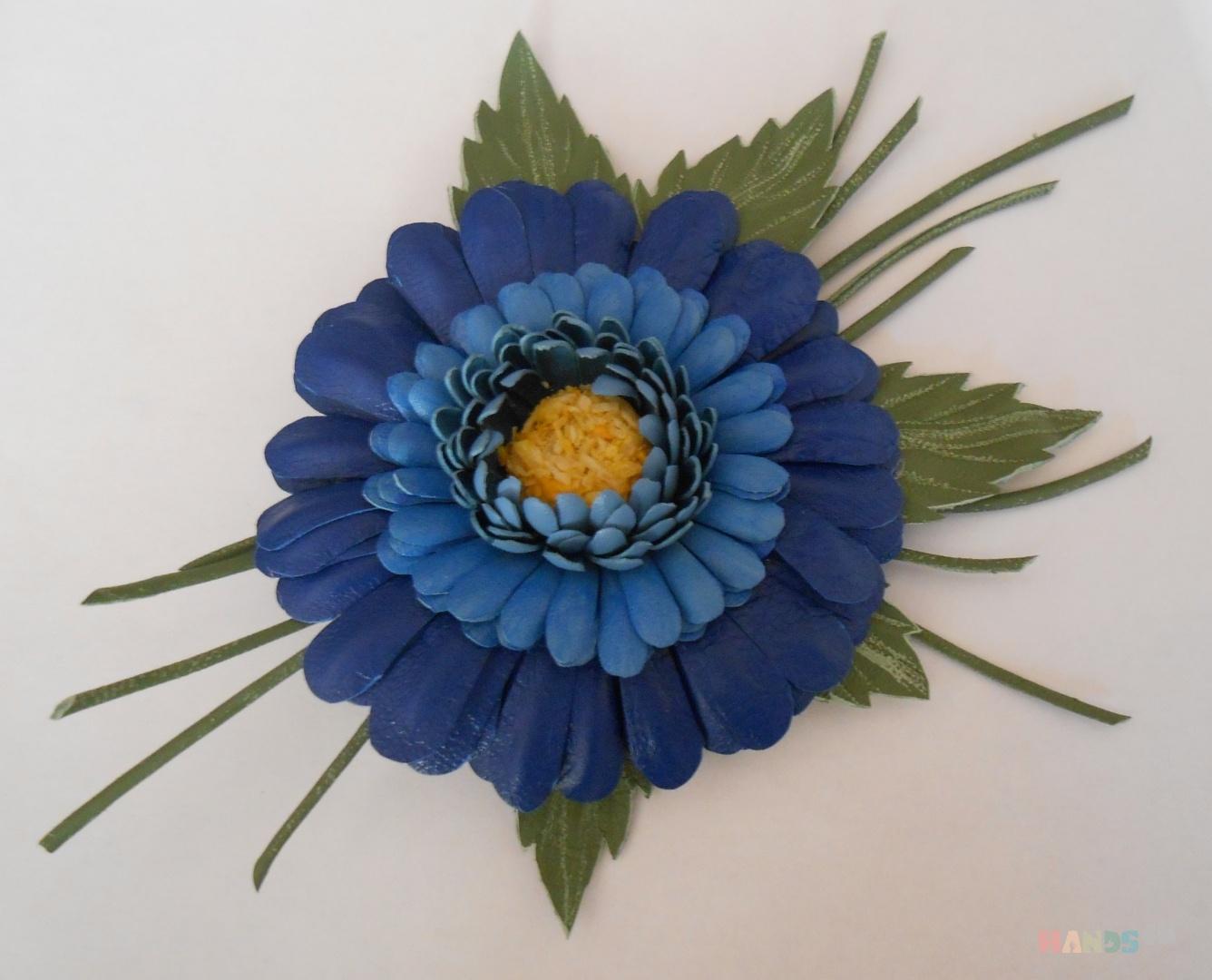 Мастер класс цветок брошь из ткани