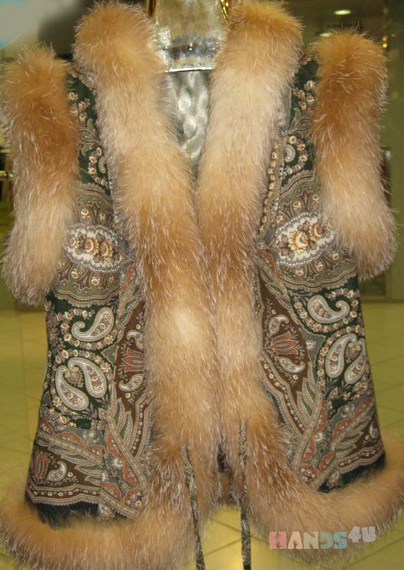 выкройка вязанного пончо | детская меховая одежда