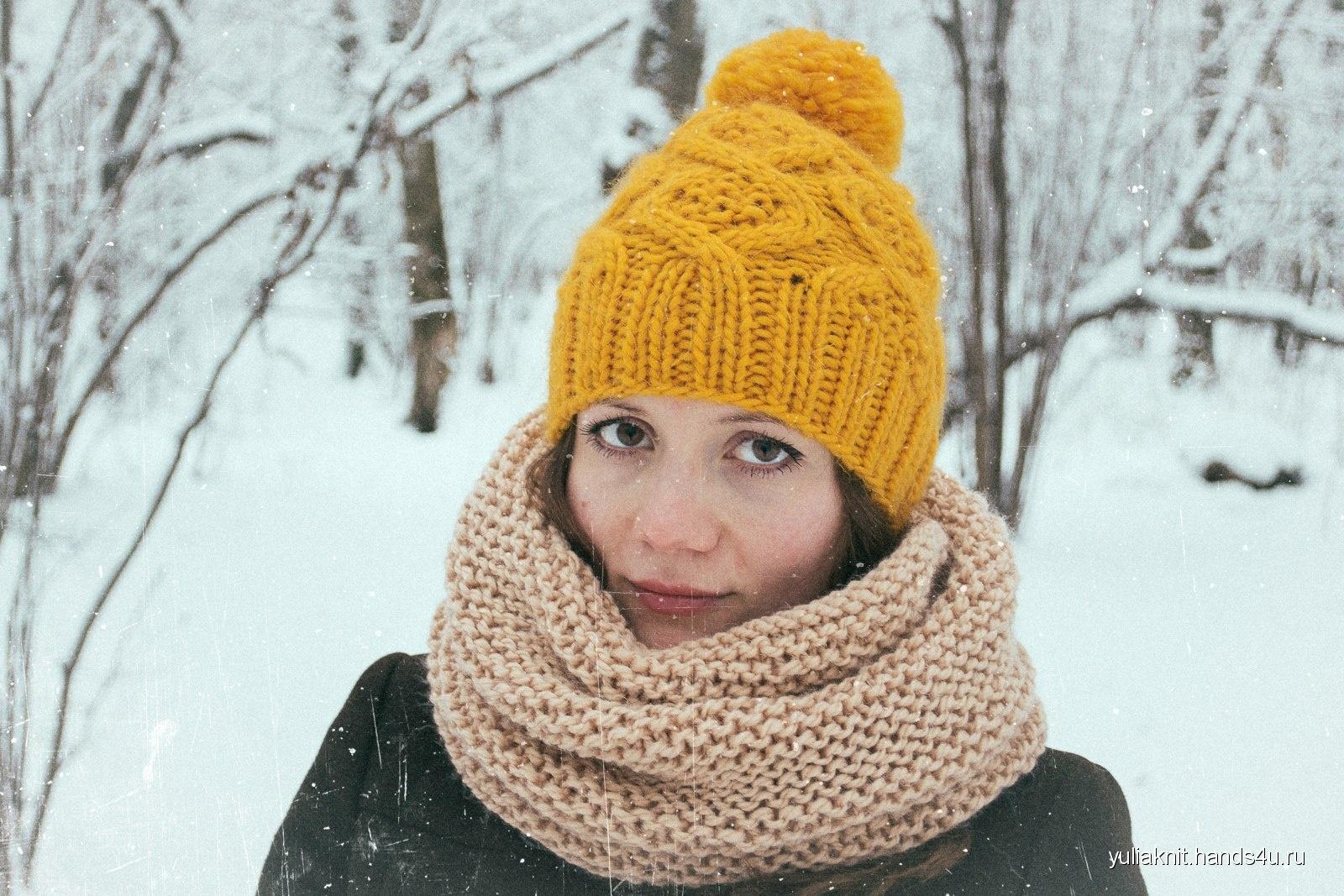Вязание зимний снуд 52