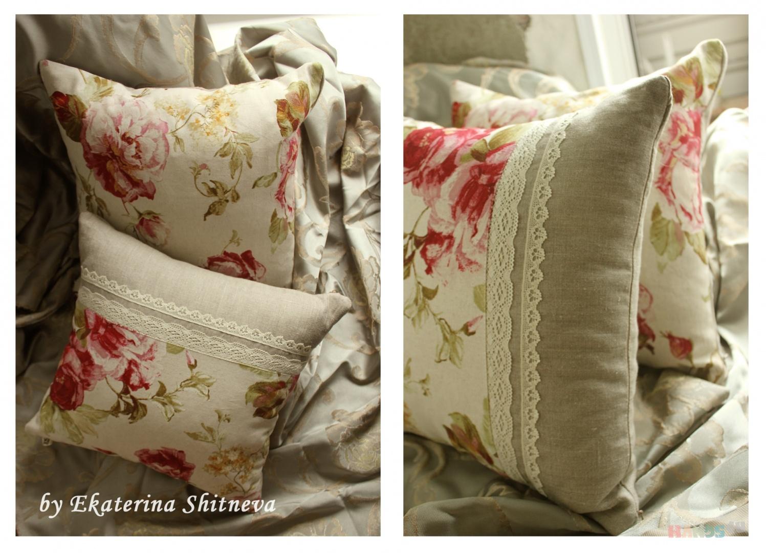 Сшить наволочку на диванную подушку