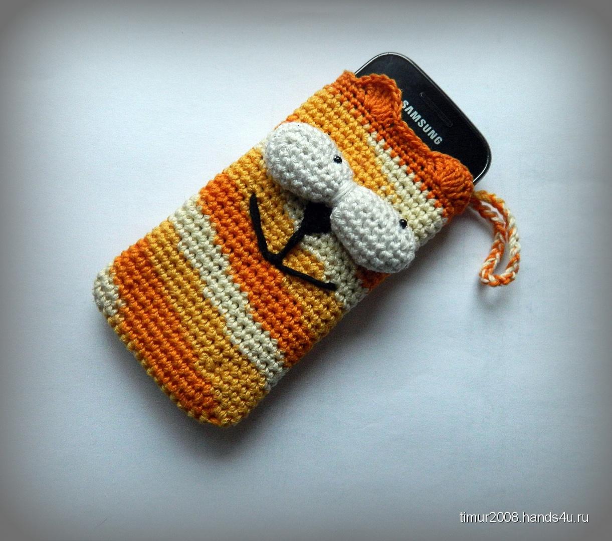 Вязаные чехол для телефона крючком фото