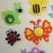 Купить Игрушки на магнитах НАСЕКОМЫЕ (наборы для творчества), Развивающие игрушки, Куклы и игрушки ручной работы. Мастер Елена Птичкина (Hvostiki) . авторская игрушка