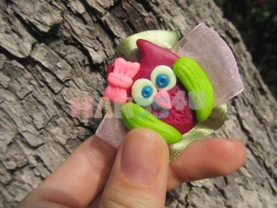 Мастер-класс: совята из полимерной глины и резинки с их применением