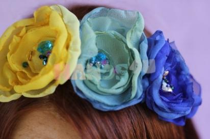 Мастер-класс: ободок с шифоновыми цветами