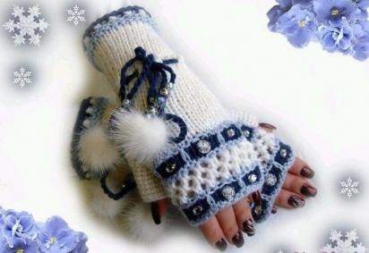 Вязание - узорные варежки, традиции