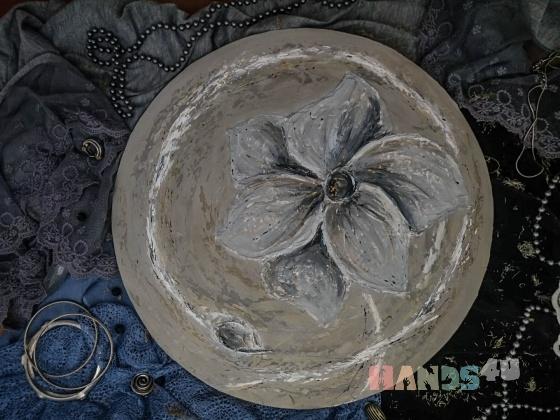 Купить Панно Каменный цветок, Картины цветов, Картины и панно ручной работы. Мастер Ольга Гурьянова (interoffice) .