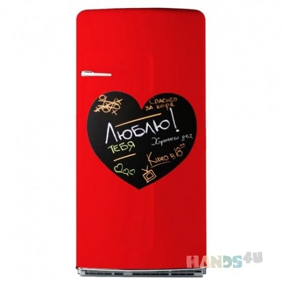 Купить Магнитно-грифельная доска на холодильник Сердце 38 х 50 см, Подарки к праздникам ручной работы. Мастер   (CutePanda) .