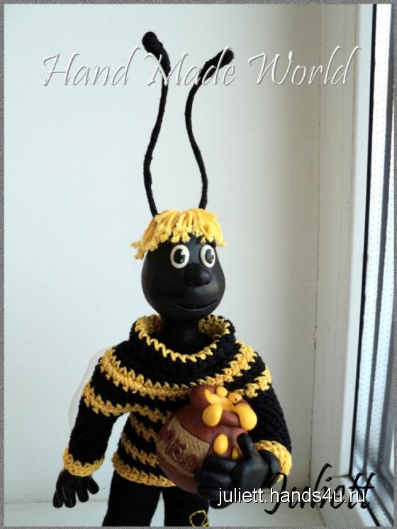 Купить Интерьерная кукла Пчелёнок, Полимерная глина, Человечки, Куклы и игрушки ручной работы. Мастер Юля Петрова (Juliett) .