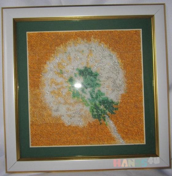 Купить картина вышитая бисером воспоминание о лете, Картины цветов, Картины и панно ручной работы. Мастер Евгения Закора (gold-thread) .