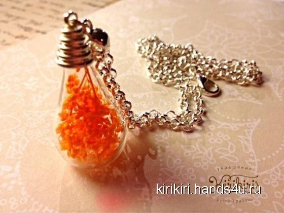 Купить кулон оранжевое лето, Кулоны, подвески, Украшения ручной работы. Мастер   (Kirikiri) . кулон ручной работы