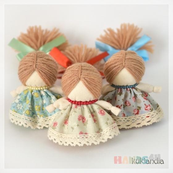 Купить Куколка на счастье, Народные куклы, Куклы и игрушки ручной работы. Мастер Виктория К (kuklandia) . ткань хлопок