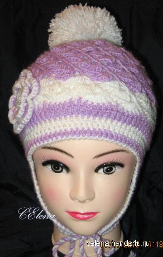 Купить шапка детская, Шапочки, шарфики, Одежда для девочек, Работы для детей ручной работы. Мастер Елена Смирнова (CElena) . полушерсть