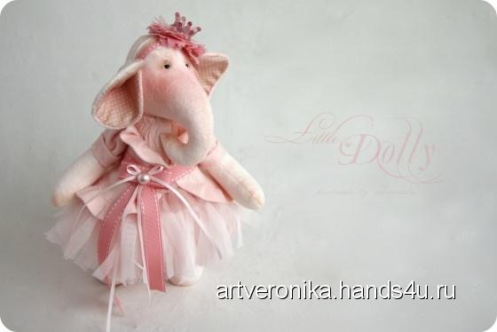 Купить Слоник Little Dolly, Слоники, Зверята, Куклы и игрушки ручной работы. Мастер Вероника Великодная (artveronika) .