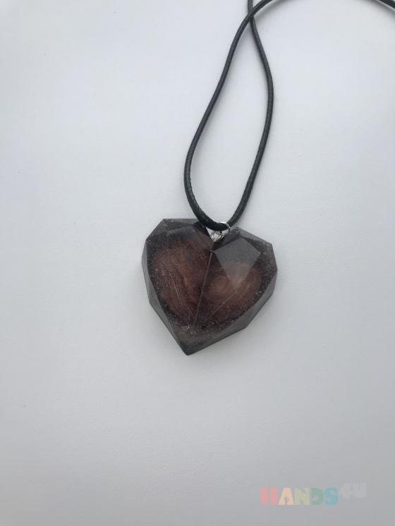 Купить Кулон гранённое сердце, Авторский lampwork, Кулоны, подвески, Украшения ручной работы. Мастер Алина Вахитова (Vakhitova) .