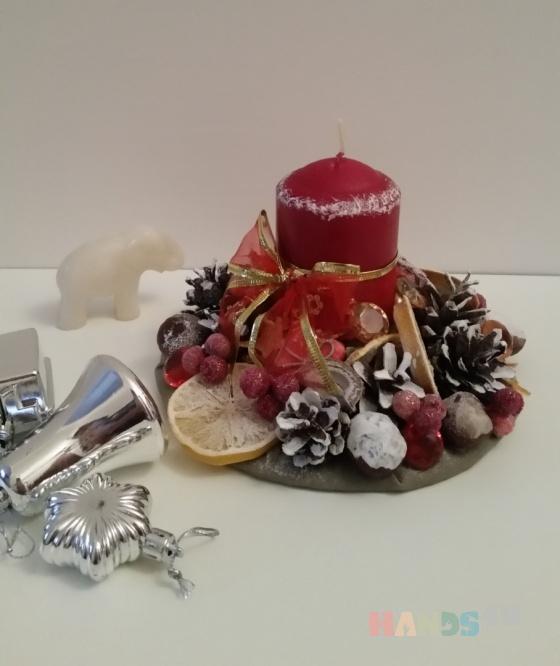 Купить рождественская свеча, Подсвечники, Для дома и интерьера ручной работы. Мастер miram  (miram) .