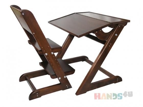Купить Комплект стол и стул для дошкольника из дерева, Детская мебель, Детская, Для дома и интерьера ручной работы. Мастер Александр Сальников (Stolyar) . парта