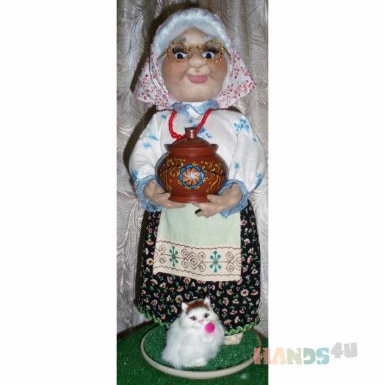 Купить Кукла интерьерная Бабушка Агафья, Текстильные, Коллекционные куклы, Куклы и игрушки ручной работы. Мастер Наталия Дмитриева (Simona) .