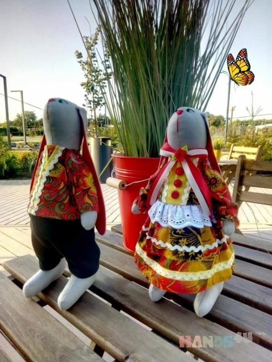 Купить ПАРА ЗАЙЦЕВ, Куклы Тильды, Куклы и игрушки ручной работы. Мастер ЮЛИЯ ПЕРВУШИНА (YULIYAP) . зайка тильда