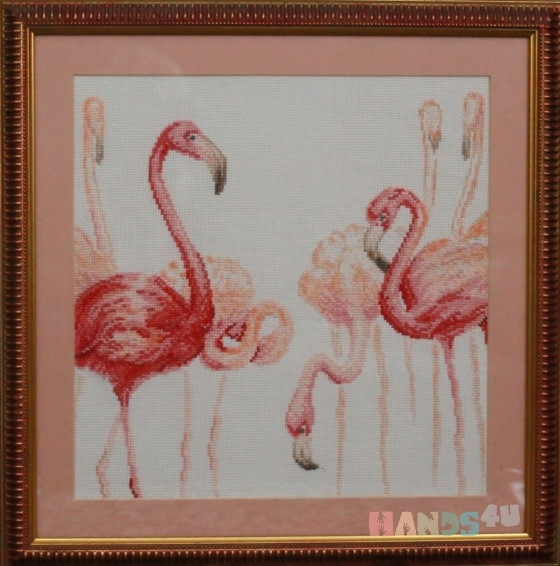 Купить Фламинго, Картины и панно ручной работы. Мастер   (marina598) . вышитые картины