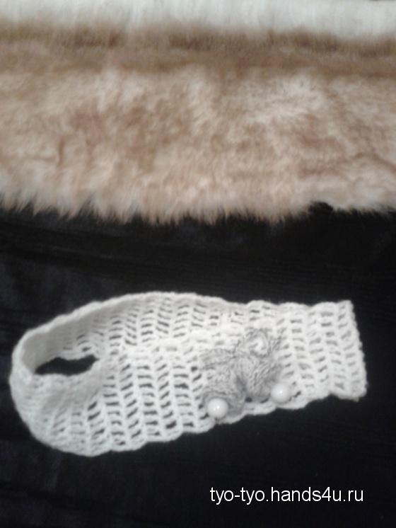 Купить Новогодняя повязка-ободок, Вязаные, Диадемы, обручи, Украшения ручной работы. Мастер Екатерина  (tyo-tyo) .
