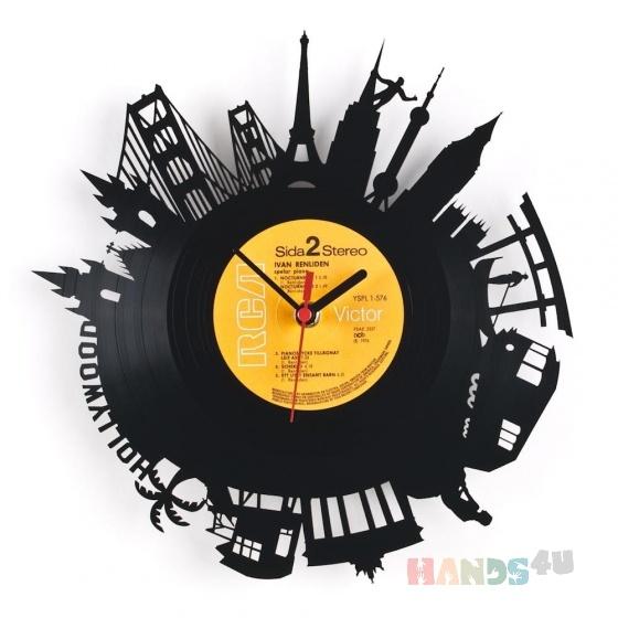 Купить Часы из пластинки, Настенные, Часы для дома, Для дома и интерьера ручной работы. Мастер Александр Трубецкой (denalex5) .