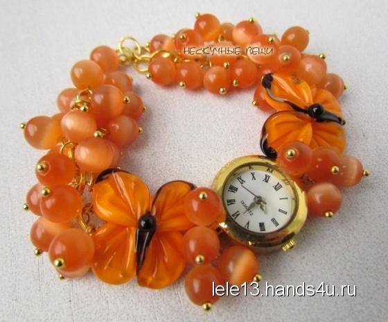 Купить Оранжевое небо наручные часы , Часы, Украшения ручной работы. Мастер Нескучные вещи  (lele13) . часы
