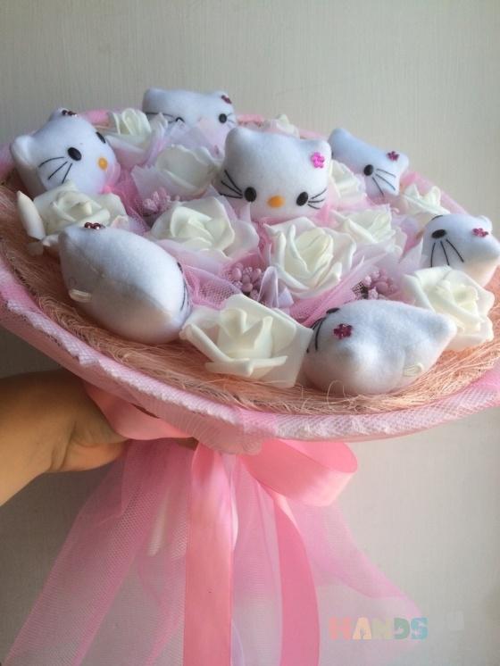 Купить Букет Hello Kitty, Персональные подарки, Подарки к праздникам ручной работы. Мастер Лилия Шигапова (Lile4ek) . проволочный каркас