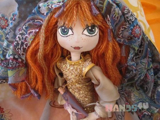 Купить Интерьерная кукла СОЛНЫШКО, Текстильные, Коллекционные куклы, Куклы и игрушки ручной работы. Мастер Юлиана Олеговна (Pestrushka) . текстиль