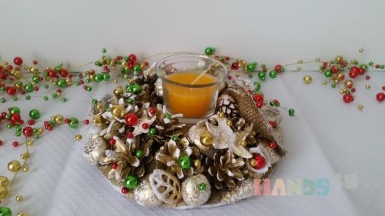 Купить праздничная свеча в композиции, Подсвечники, Для дома и интерьера ручной работы. Мастер miram  (miram) . декоративные подсвечники