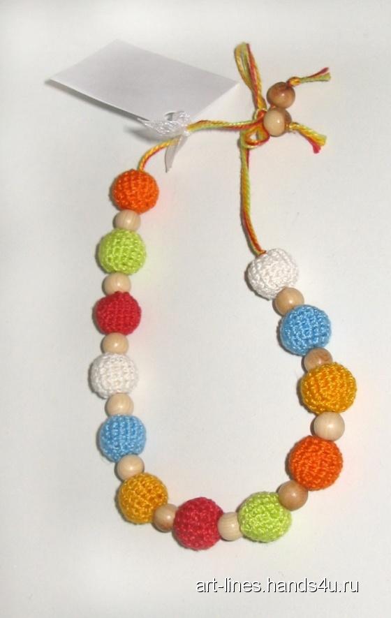 Купить Бусы детские разноцветные, Бусы, Детская бижутерия, Работы для детей ручной работы. Мастер Катерина ЭкоБусы  (Art-lines) . бусы детские