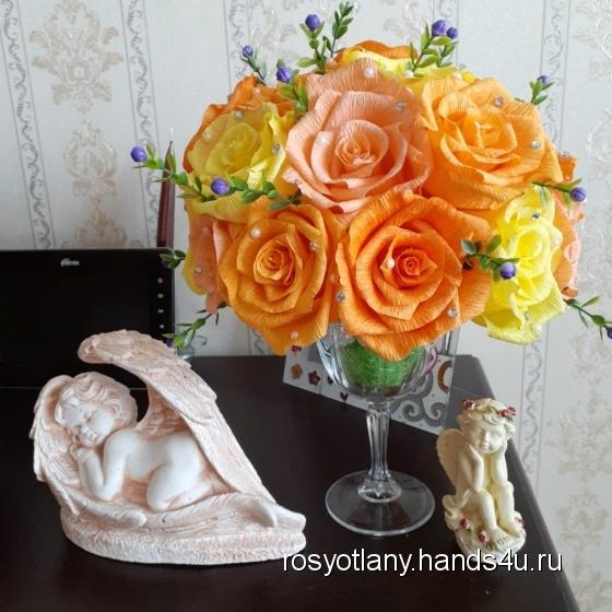 Купить Оранжевое настроение, Подарочные наборы, Сувениры и подарки ручной работы. Мастер   (RosyotLany) . бумага гофрированная