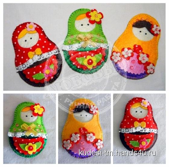 Купить Магнит на холодильник Матрешка, Магниты, Сувениры и подарки ручной работы. Мастер Алеся  (kudesi-tm) .