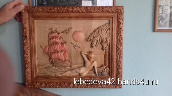 Купить Картина резная Девушка , Пейзаж, Картины и панно ручной работы. Мастер Анна Лебедева (Lebedeva42) . дерево карельская береза