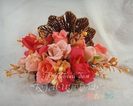 Купить Коралловый риф, Букеты из конфет, Букеты, Цветы и флористика ручной работы. Мастер Екатерина  (Kanitell) . конфетный букет